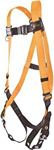 Titan ll Non-Stretch Full Body Safety Harness with Mating Buckle Chest Strap & Tongue Buckle Leg Straps, Universal Size-Large/XL, 400 lb. Capacity (T4500/UAK)