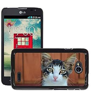 Super Stella Slim PC Hard Case Cover Skin Armor Shell Protection // M00146603 Cat Cute Cat Cat Face Animal Katze // LG Optimus L70 MS323
