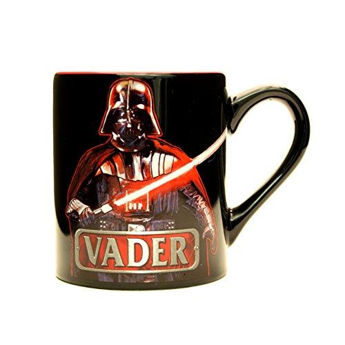 Silver Buffalo SW2032 Star Wars Darth Vader Text Ceramic...