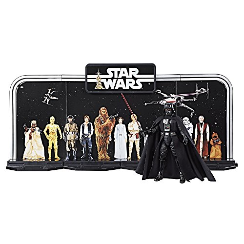 Disney Star Wars Black Series 40th Anniversary Collection - Black, 6 Inch Darth Vader Figure With Decorative Backcard and Display Stand ()