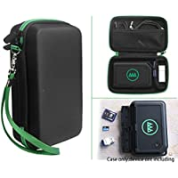 CaseSack Designed Protection Case for GNARBOX Portable Backup and Editing System, Pocket for HD/ Micro SD Cards, Mesh pocket for Cable, USB & other accessories, Black with Green Zip & Wrist Strap