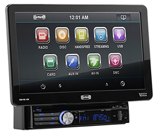 Storm Single (Sound Storm SD10.1B Single Din, Touchscreen, Bluetooth, DVD/CD/MP3/USB/SD AM/FM Car Stereo, 10.1 Inch Digital LCD Monitor, Full Detachable Front Panel)