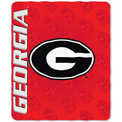 Northwest NOR-1COL031010029RET 50 x 60 in. Georgia Bulldogs NCAA Light Weight Fleece Blanket, Mark - Fleece Bulldogs