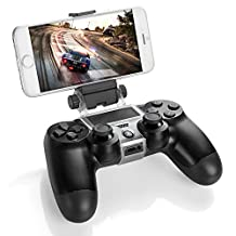 PS4 Controller Smart Phone Clip Clamp Mount Holder Stand Bracket for Sony PlayStation 4 PS4 Dual Shock Wireless Controller [Playstation 4]