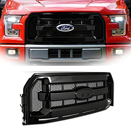 2015 Ford F150 Grill >> Amazon Com Vxmotor For 2015 2016 Ford F150 Black Blk Oe