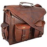 "Leather Messenger Bag 15"" Leather ABB Laptop Bag Eco Friendly Leather Bag"
