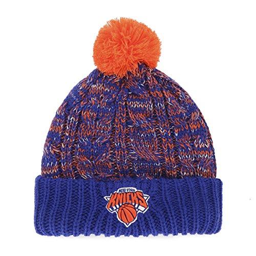 promo code 619e7 0d43a NBA New York Knicks Women s Brilyn OTS Cuff Knit Cap with Pom, Royal, Women