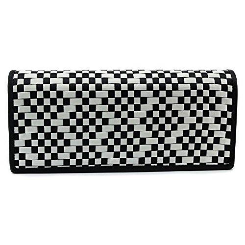 La Regale RL25385 Clutch,Black/WhiteOne Size