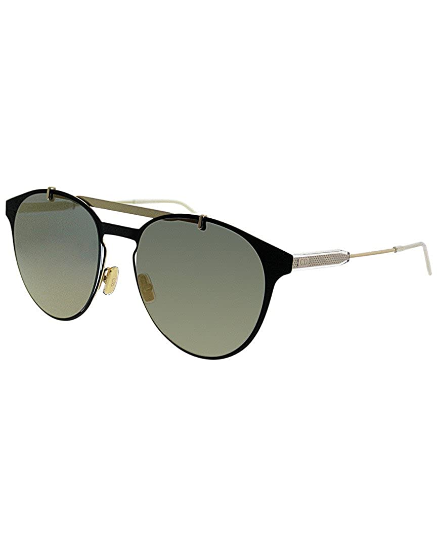 b048815df59 Dior Homme Motion1 2M2 Gold Matte Black Metal Round Sunglasses Gold Mirror  Lens  Amazon.ca  Clothing   Accessories