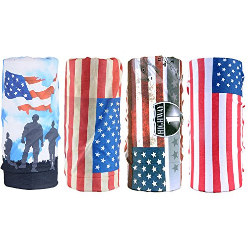 Sports Magic Scarf Outdoor American Flag Headwear Climbing Equipment Lightweight Multi-functional Headwear (HWHS2) (HWZH46)