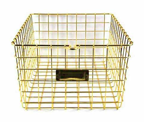 Designstyles storage basket Gold product image