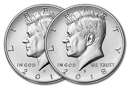 2018 P & D Kennedy Half Dollar Clad Uncirculated Clad Half Dollars