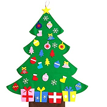 keynew diy christmas tree set door wall hanging xmas gifts for kids new year decorations - Wall Hanging Christmas Tree
