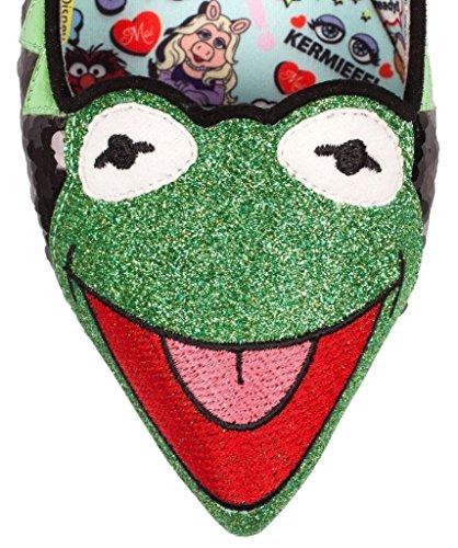 Scelta Irregolare Womens Muppets Kermit The Flat Shoes - 6.5 Uk / 8.5 B (m) Us / 39.5 M Eu, (verde / Nero)