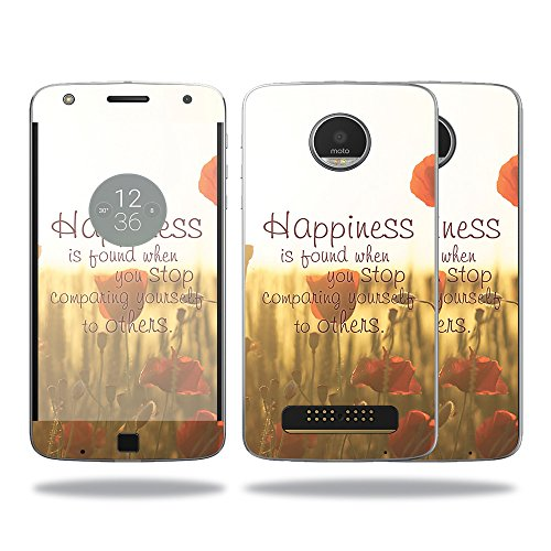 Price comparison product image Skin For Motorola Moto Z Play Case – Be Happy | MightySkins Protective, Durable, and Unique Vinyl Decal wrap cover | Easy To Apply, Remove, and Change Styles | Made in the USA