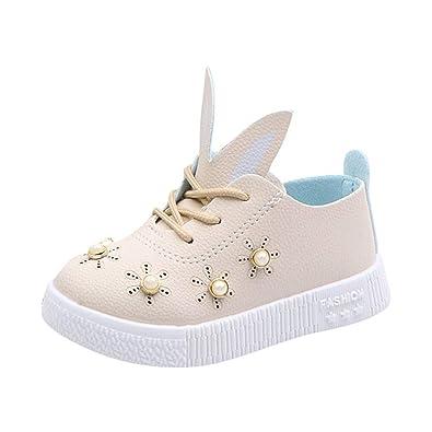91f0ae869fc58 Chaussures Enfant ADESHOP Mode Enfants Bébé Perle Oreilles Oreilles Sneaker  Fille Doux Antidérapant Chaussures De Dessin