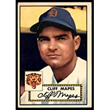 Baseball MLB 1952 Topps #103 Cliff Mapes EX Excellent Tigers