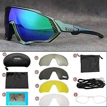 KAPVOE Caliente TR90 Ciclismo Gafas de Sol polarizadas MTB Deportes Ciclismo vidrios de los anteojos (30): Amazon.es: Deportes y aire libre