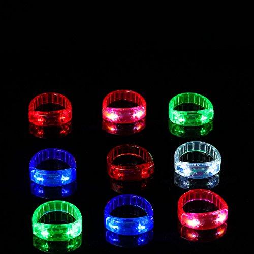 Ezerbery 6 pcs Multicolor LED Light Up Flashing Wristbands LED Light Bracelet For Parties Birthdays Events by Ezerbery (Image #2)