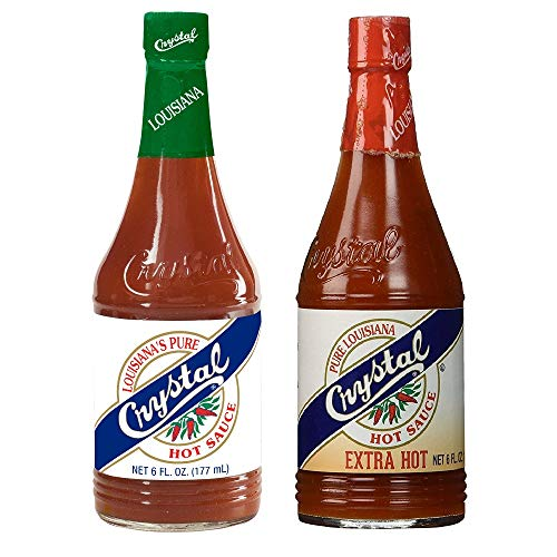 Crystal Hot Sauce and Crystal Extra Hot Sauce Combo 6oz each (Pack of 2)