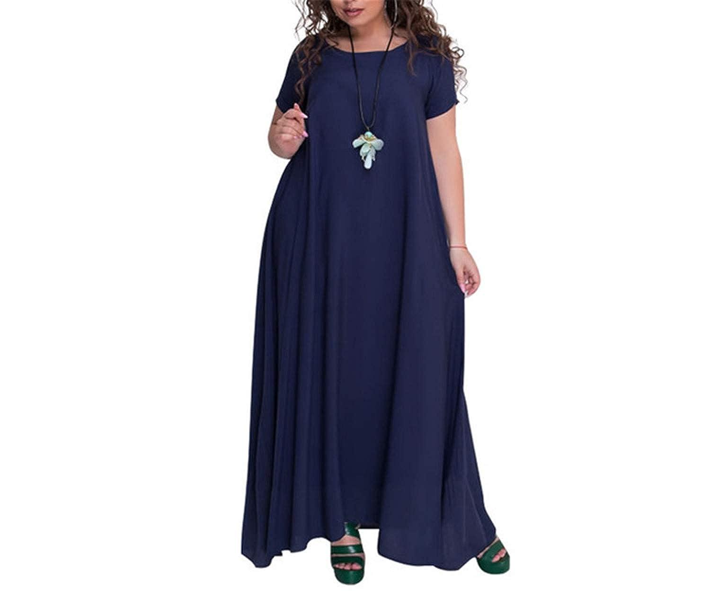 Women Elegant Plus Size Long Dress 4XL Big Large Size Floor Length ...