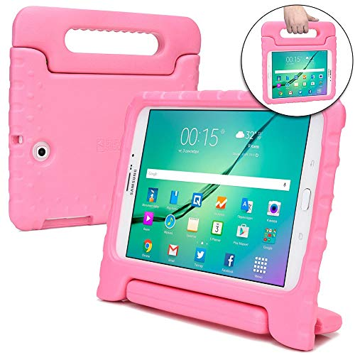 Samsung Galaxy Tab S2 9.7 Kids case, [2-in-1 Bulky Handle: Carry & Stand] Cooper Dynamo Rugged Heavy Duty Children's Cover + Handle, Stand & Screen Protector - Boys Girls Elderly (Pink) (Tablet Samsung Case Kids For 2)