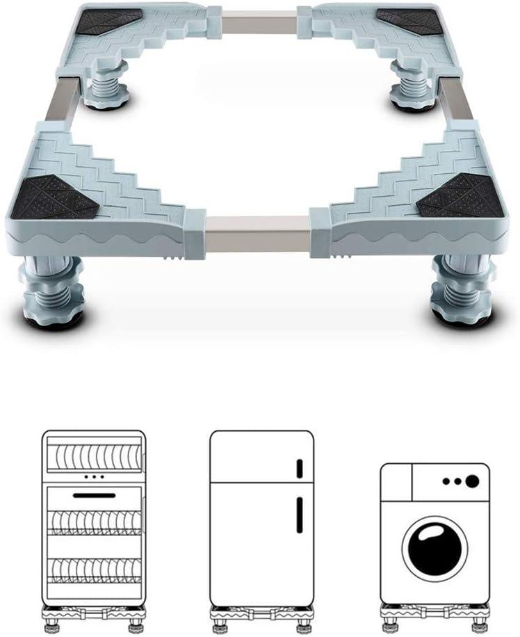 Pedestal Para Lavadora, Queta Base de Pedestal Para Lavadora Ajustable Para Secadora, Lavadora y Refrigerador, 50-70CM