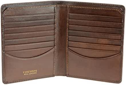 Visconti Tuscany 49 Secure RFID Blocking Genuine Leather Card Holder Wallet