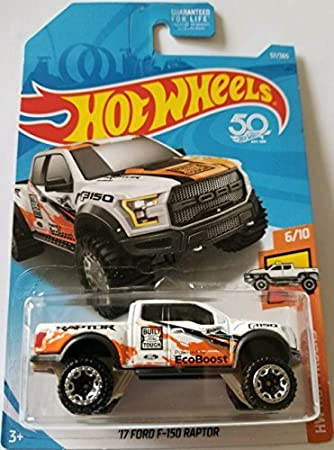 Amazon hot wheels 2018 50th anniversary hw hot trucks 17 hot wheels 2018 50th anniversary hw hot trucks 17 ford f 150 raptor 57 voltagebd Images