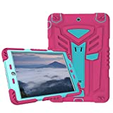iPad Mini 1 2 3 Case,Y&M(TM) Optimus Prime Extreme Military Heavy Duty Dust/Shock Proof with Stand Tablets Cover Hybrid Hard Army Protective Case For iPad Mini 1 2 3 (Rose/Blue)
