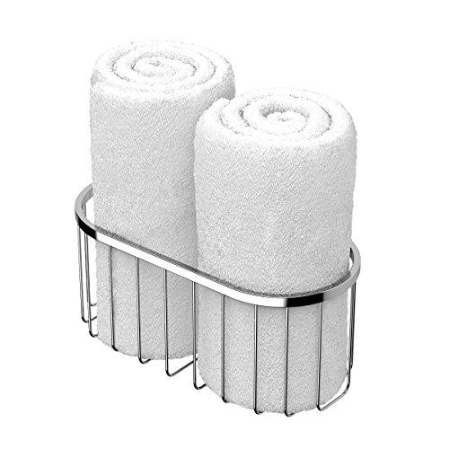 Gatco Satin Shower Caddy - Gatco 1517 Rolled Towel Basket, Large, Chrome
