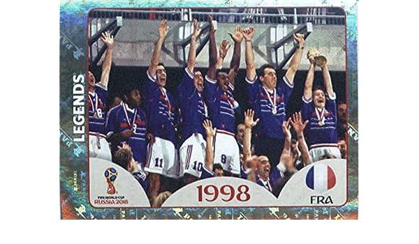 #292 TEAM LOGO FOIL 2018 Panini WORLD CUP Soccer Sticker ICELAND