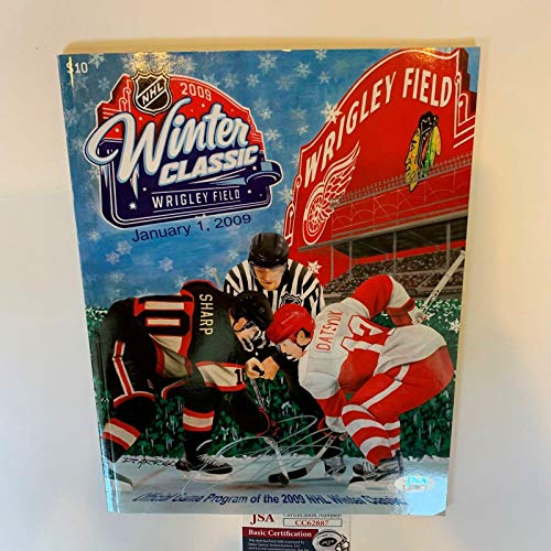 Patrick Kane Signed 2009 Winter Classic Wrigley Field Program Blackhawks - JSA Certified - Autographed NHL Magazines