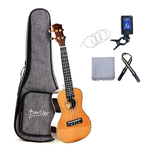 Deviser W-DCS Concert Ukulele 23inch professional ukulele kit Solid Cedar Top Rosewood back and side