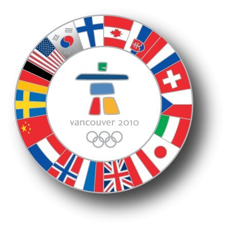 2010 Olympic Pins Vancouver (2010 Vancouver Olympics - All Flags Logo Pin)