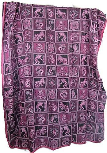 (El Relicario de Los Tesoros Mexican Woven Reversible Extra Large Blanket Throw Heavy Snuggly Queen/King Beautiful Designs (96