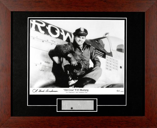 Century Collection Bud Anderson Old Crow Autographed Framed Photograph with Metal ()