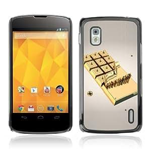 YOYOSHOP [Gold Chocolate] LG Google Nexus 4 Case