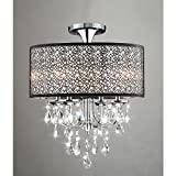 Bubble Shade Crystal and Chrome Flushmount Chandelier Review