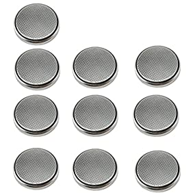 HQRP 10 Pack Coin Battery for Polar FT4, FT4F, FT7, FT7M Heart Rate Monitor Training Computer + Coaster