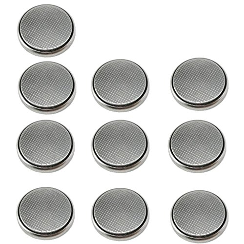 HQRP 10 Pack Coin Battery for Polar FT4, FT4F, FT7, FT7M Heart Rate Monitor Training Computer + Coaster (Heart Plus Rate Monitor)