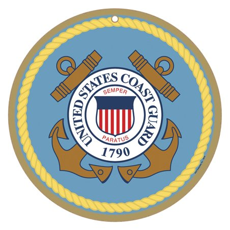 Coast Guard Wood Sign ((SJT15419) US Coast Guard Logo 10