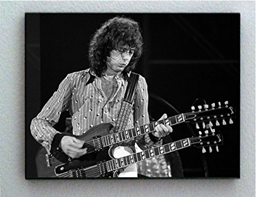 Rare Framed 1972 Jimmy Page Vintage Picture Jumbo Giclée Print