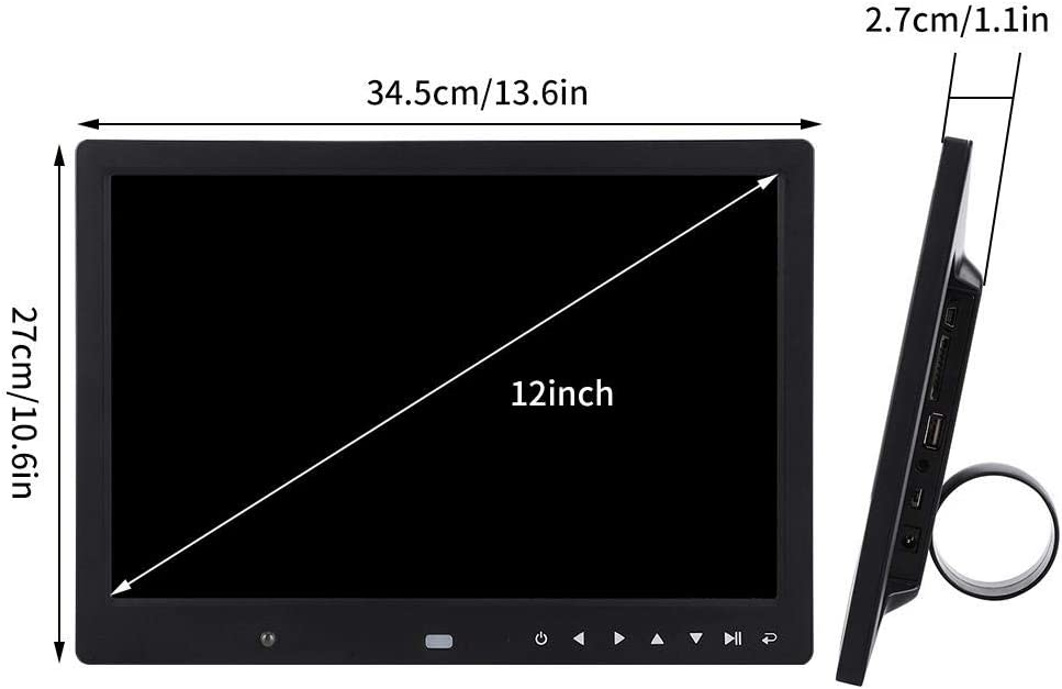 AC110-240V-Black 12 Photo Frame Remotely Controllable HD Multi-Function Digital Photo Frame Simlug Digital Photo Frame