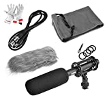 BOYA BY-PVM1000 Condenser Shotgun Microphone 3-pin XLR Output on DSLR Camera