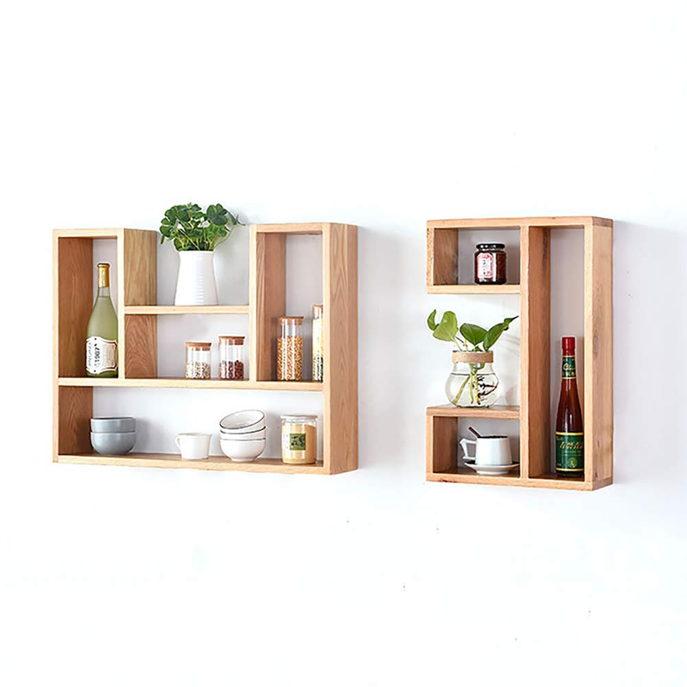 U-Shaped Ledge Bookshelf concave Floating Shelf Living Room Utility Unit Storage Display Stand Decorative Wall Rack Color : Solid Wood Carl Artbay Home Decor Color : Solid Wood