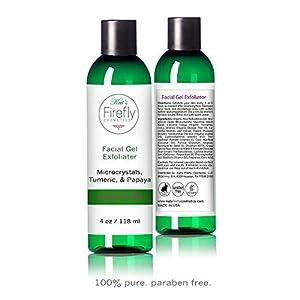 Kat's Firefly Cosmetics- Gel Exfoliating Scrub -Turmeric & Papaya, Pomegranate, Jojoba Oil-4oz