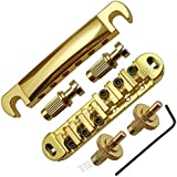 Abr-1 Style Tune-o-matic Bridge Tailpiece Gold for Gibson Les Paul Gear Replacement (Gold)