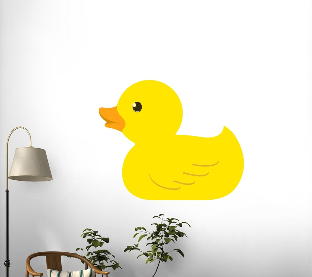 Amazon.com: Rubber Duck Wall Mural by Wallmonkeys Peel and Stick ...