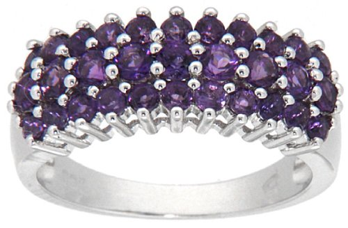 Round Amethyst Fashion Ring - 3